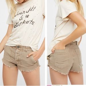 Free People Raw and Patched Shorts